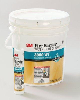 ซิลิโคนยาแนวกันไฟลาม 3M Fire Barrier Water Tight Sealant 3000 WT